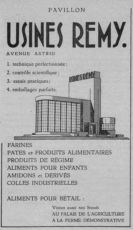 Expo Bruxelles 1935 - Publicité - Usines Remy