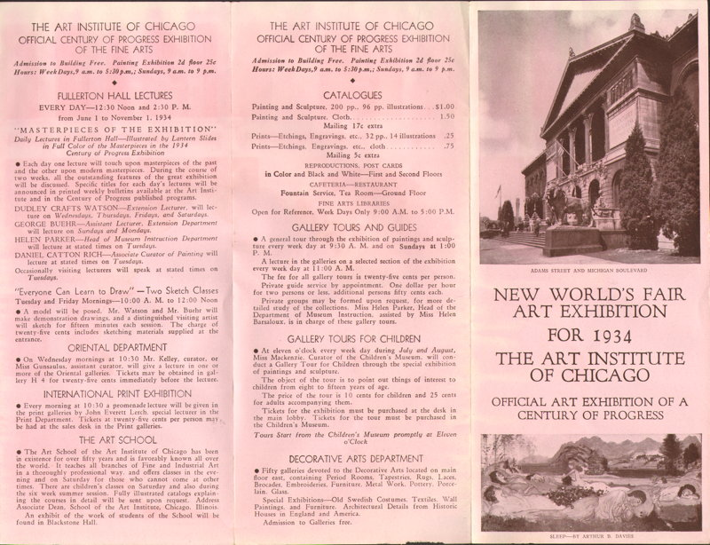 Expo Chicago 1933 - Advertisement - New World s Fair Art Exhibition for 1934