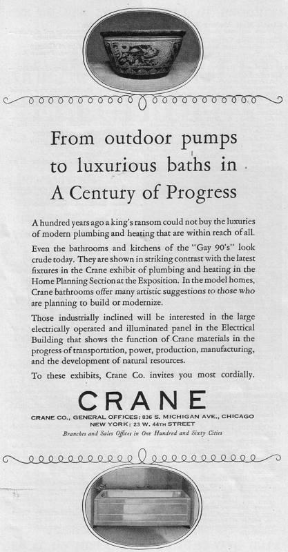 Expo Chicago 1933 - Advertisement - Crane