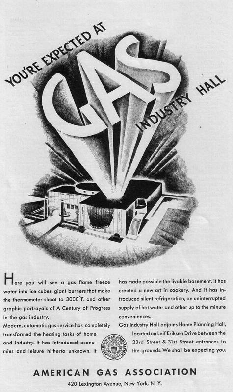 Expo Chicago 1933 - Advertisement - American Gas Association