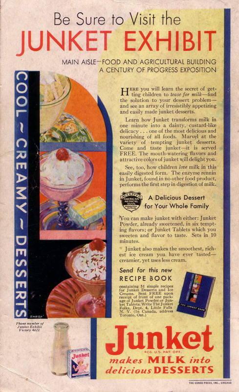 Expo Chicago 1933 - Advertisement - Junket