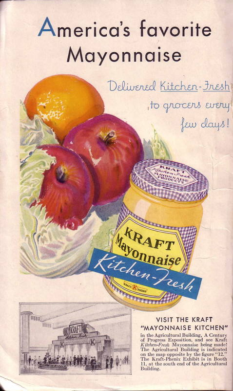 Expo Chicago 1933 - Advertisement - Kraft  -Mayonnaise Kitchen