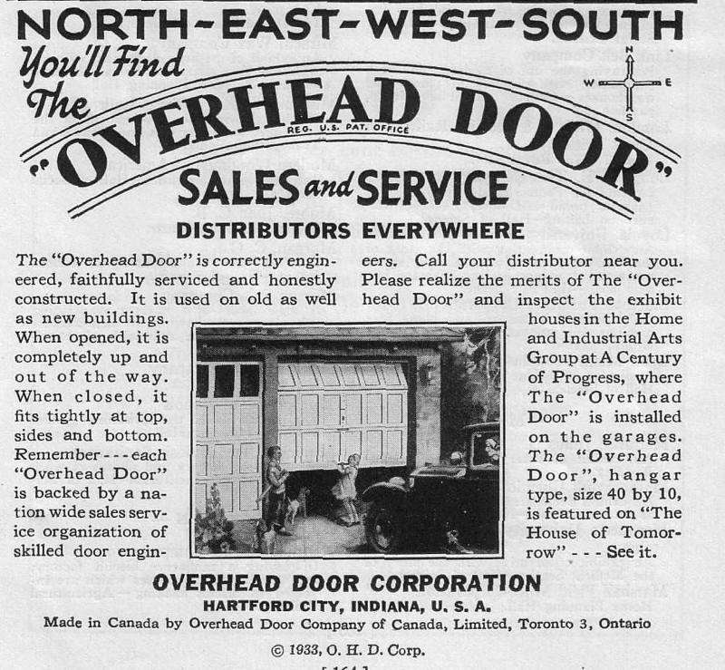 Expo Chicago 1933 - Advertisement - Overhead Door