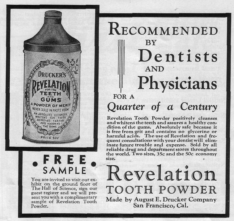 Expo Chicago 1933 - Advertisement - Revelation Tooth Powder