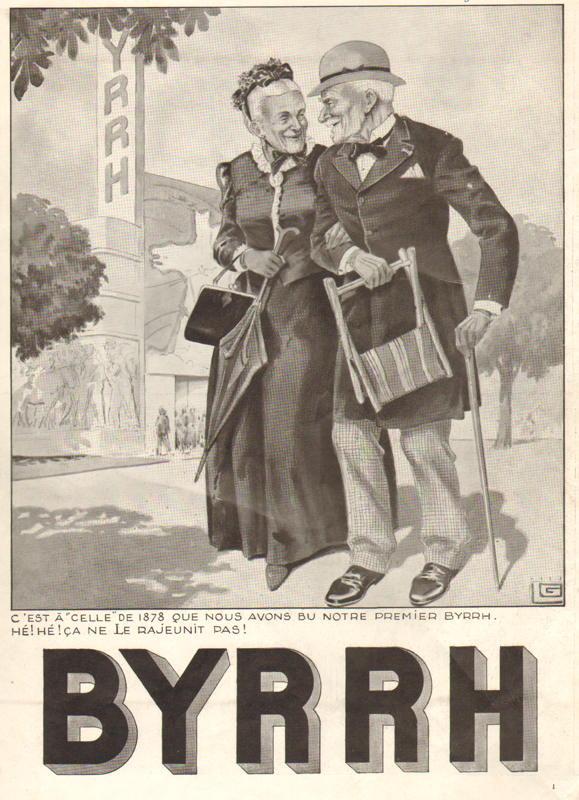 Expo Paris 1937 - Publicté - Byrrh