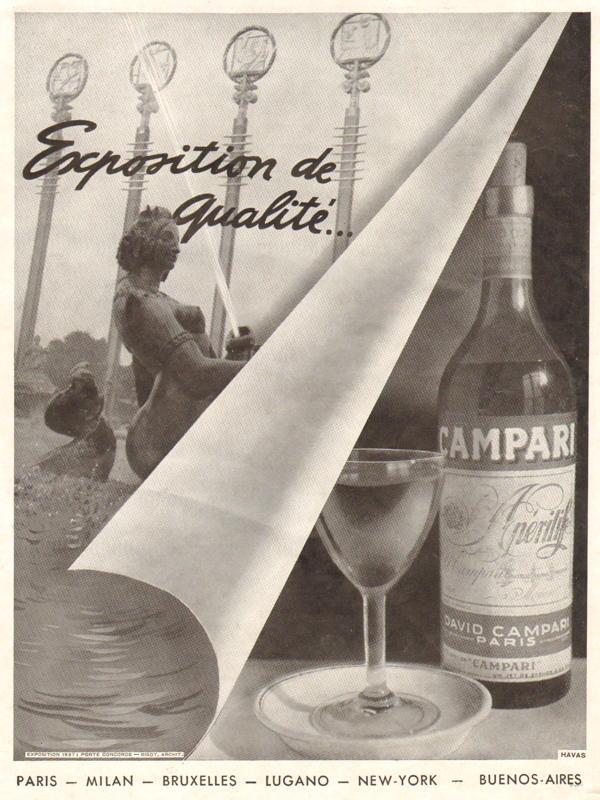 Expo Paris 1937 - Publicté - Campari