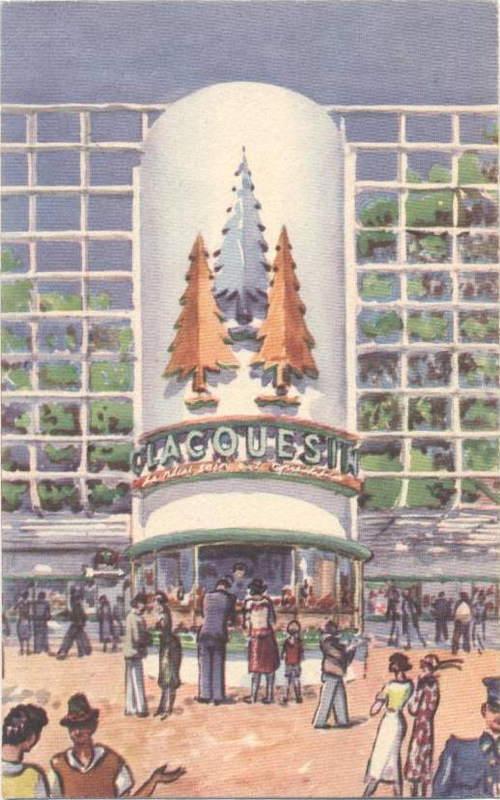 Expo Paris 1937 - Publicté - Clacquesin
