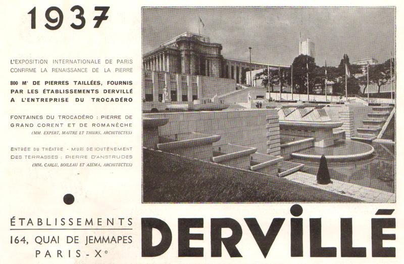 Expo Paris 1937 - Publicté - Dervillé