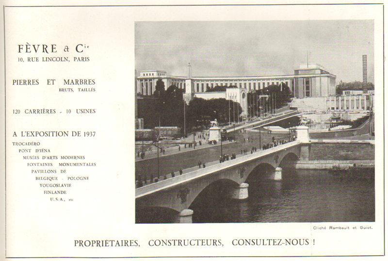 Expo Paris 1937 - Publicté - Fèvre et Cie