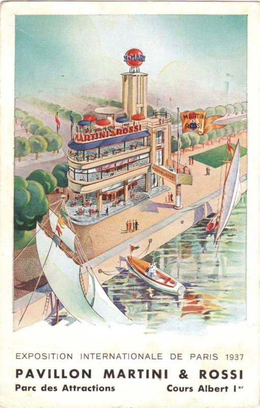 Expo Paris 1937 - Publicté - Martini et Rossi