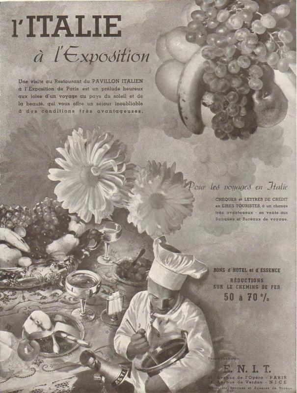 Expo Paris 1937 - Publicté - Pavillon Italien