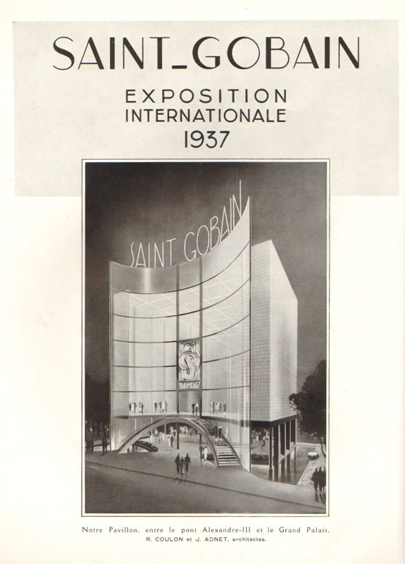 Expo Paris 1937 - Publicté - Saint Gobain