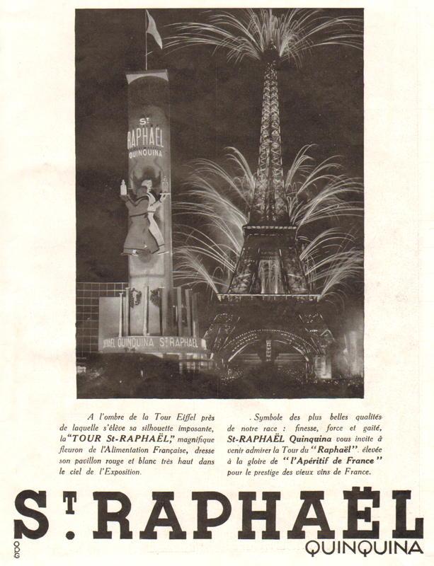 Expo Paris 1937 - Publicté - Saint Raphaël