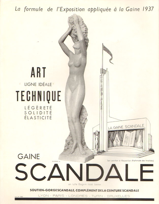 Expo Paris 1937 - Publicté - Scandale