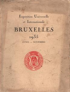 Expo Bruxelles 1935 - livre exposition Bruxelles 1935