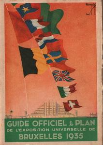 Expo Bruxelles 1935 - livre guide officiel exposition Bruxelles 1935