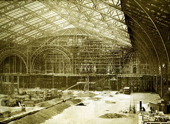 Expo Paris 1900 - Photo - Salle des Fêtes - Construction