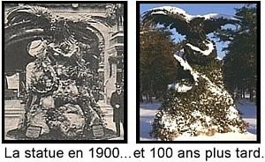 Expo Paris 1900 - Vestige - Sculpture d aigle du palais de l Allemagne