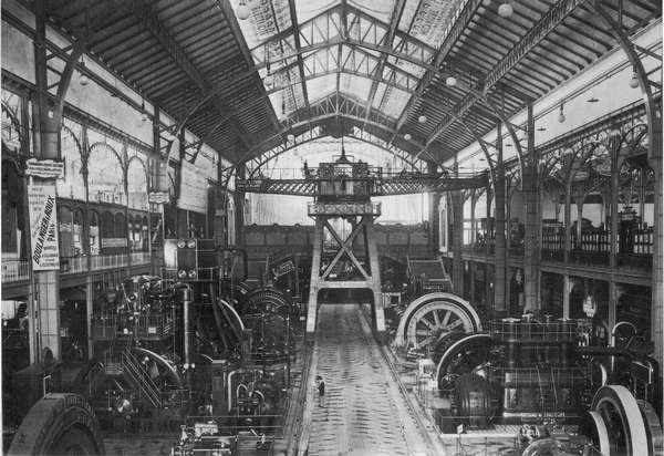 Expo Paris 1900 - Illustration - Galerie des Machines - Grande Machine BBC-Sulzer