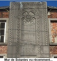 Plaque monumentale en pierre de Soignies des carrières Gauthier Wincqz