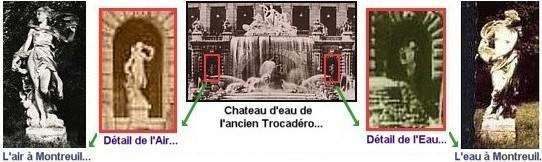 Vestiges de l Exposition de Paris 1878 - statue L eau