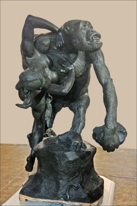 Expo Paris 1889 - Vestige - Gorille de Frémiet