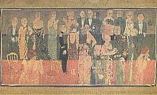 Expo Paris 1925 - Vestige -  Tenture de Dufy Reception à l amirauté