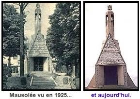 Expo Paris 1925 - Vestige -  Mausolée aux morts des batailles de Champagne
