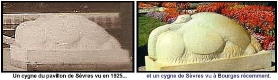 Expo Paris 1925 - vestige -  cygne stylisé art-déco