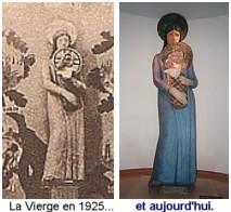 Expo Paris 1925 - Vestige -  Statue La vierge à l enfant