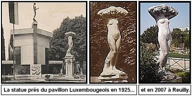 Expo Paris 1925 - Vestige -  Statue de nu féminin par Naoum Aranson