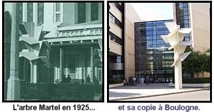 Expo Paris 1925 - vestige - arbres Martel du pavillon des renseignements et du tourisme