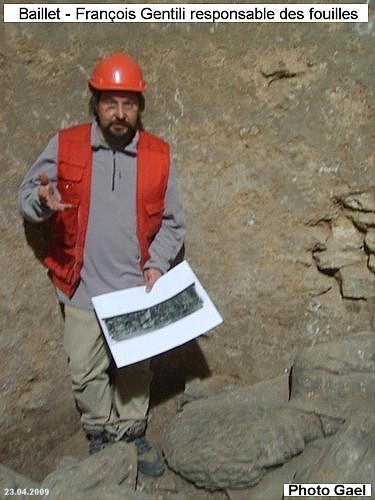 François Gentili responsable des fouilles