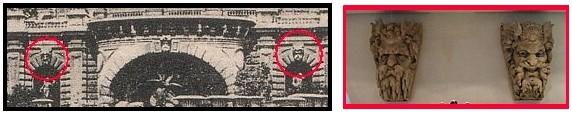 vestiges de l exposition de 1878 à Paris - Masque monumentaux de la cascade du palais du Trocadéro