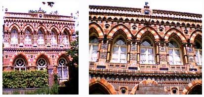 vestiges de l exposition de 1878 à Paris - Pavillon de la maison Doulton et Lambeth