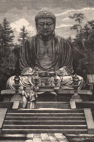 Le grand Daibutsu pendant l exposition de Vienne 1873