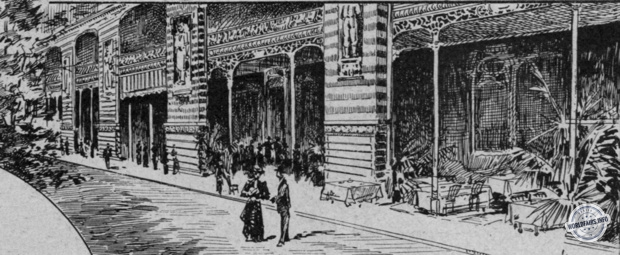Restaurant des Galleries du Champ de Mars à l'exposition de Paris 1900