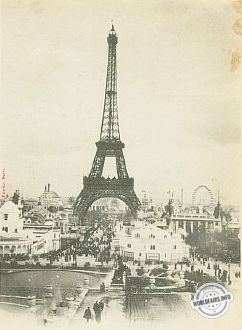 Tour Eiffel à l'exposition de Paris 1900